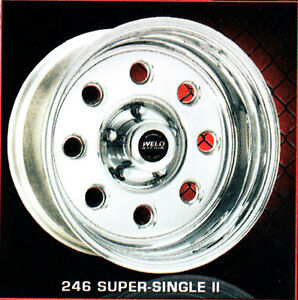 16x8 Weld Wheel Forged Aluminum Super Single 8 170mm Bc Last Ones Anywhere