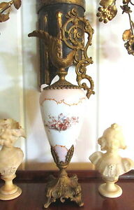 Victorian Porcelain Ewer W Gold Gilt Mounts With Dolphin Cherub Theme