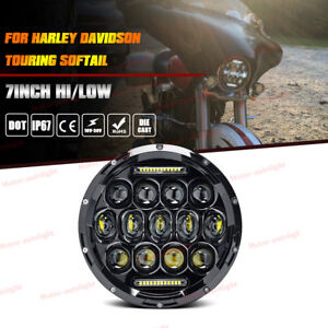 For Harley Electra street Glide road King 7 Led Projector Headlight