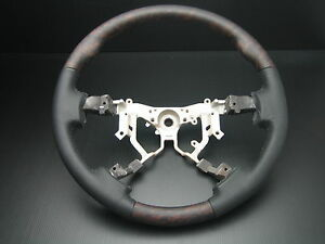 Toyota Tundra 2007 2013 Wood Genuine Leather Steering Wheel Replacement
