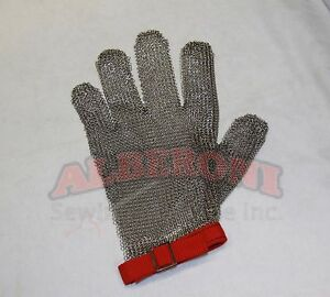 Metal Safety Protective Glove Right Or Left Five Finger Medium Stainless Steel
