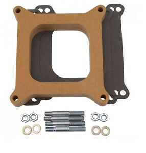 Edelbrock 8720 Wood Square bore 1 Thick Open Carburetor Spacer