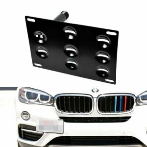 Front Bumper Tow Hook License Plate Bracket Mount Holder For Bmw X1 X3 X4 X5 X6