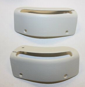 1984 1989 Convertible Mustang New Seat Belt Bezels White Sold As A Pair