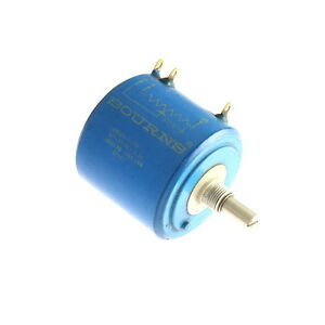 1x 3400s 1 252 Bourns Rotary Wirewound Precision Potentiometer 2 500 Ohms 2 5k