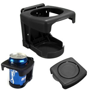 Car Vehicle Truck Folding Beverage Drink Bottle Can Cup Holder Mount Black