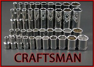 Craftsman Hand Tools 41pc Lot Standard Deep 1 4 Sae Ratchet Wrench Socket Set