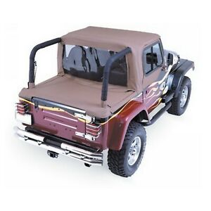 Rampage 993017 Spice Denim Cab Soft Top Tonneau Cover For 92 95 Wrangler Yj