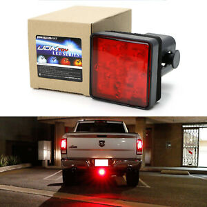 Red Lens 15 Led Brake Light Trailer Hitch Cover Fit Towing Hauling 2 Size