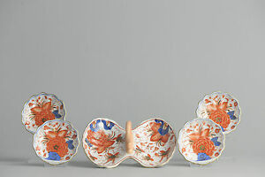 A Set To Eat Sea Fruit 20th C Mussels Clams Oysters Eat In Style Imari Enjoy
