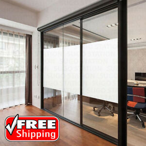 24 X12ft White Frosted Window Tint Glass Privacy Film Easy Diy Home Office Store