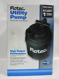 Free Ship Flotec Water Removal Utility Pump 1 6 Hp 1470 Gph