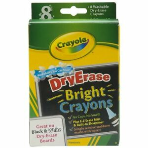Crayola Dry Erase Crayons Bright Marker Office Student Drawing Painting New