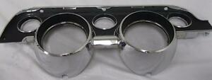 1967 67 Ford Mustang Instrument Bezel Black Camera Case Finish Standard Model