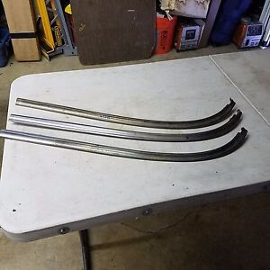 1955 1956 1957 Chevy Nomad Safari Ss Side Window Lower Rear Curved Driver Side