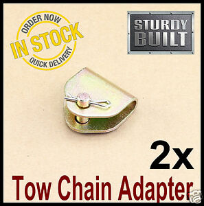 2x Chain Adapter G70 Tow Chain Ratchet Tie Down Straps Flatbed Truck Car Axle 2