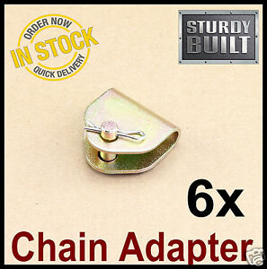 6x Chain Adapter G70 Tow Chain Ratchet Tie Down Straps Flatbed Truck Car Axle 2