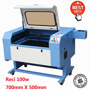 100w Reci Co2 Laser Machine Engraving Cutting Engraver Cutter 500mm 700mm Usb