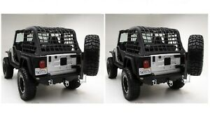 Smittybilt 76654 76653 Xrc Rear Bumper W Swing Tire Carrier For 87 06 Wrangler