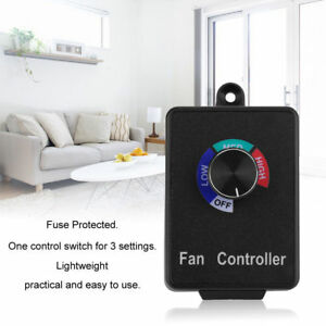 Variable Active Air Duct Fan Speed Controller Hydroponics Inline Exhaust Us Sell