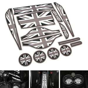 Union Jack Uk Flag Style Coasters For Mini Cooper R60 Cup Holders Side Door Mats