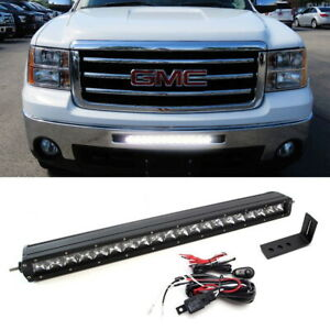 Complete Lower Bumper Grill Mount Led Light Bar System For Gmc 1500 2500 3500