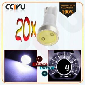 20pc T5 High Power White Wedge Car Instrument Dash Gauge Cluster Led Light Bulbs