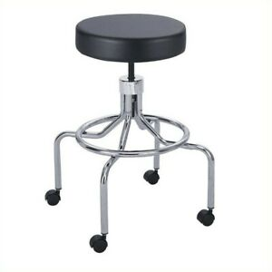 Safco Lab drafting Chair With High Base And Screw Lift In Black