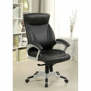 Furniture Of America Bleckermen Leather Office Chair In Black