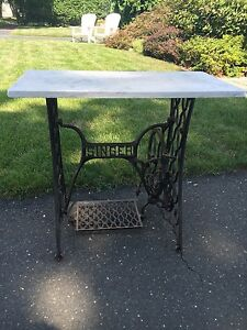 Antique Singer Cast Iron Treadle Sewing Machine Table Base Vintage Industrial