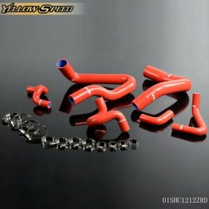 Silicone Radiator Hose Kit For 1986 1993 Ford Mustang Gt Lx Cobra 5 0 Red