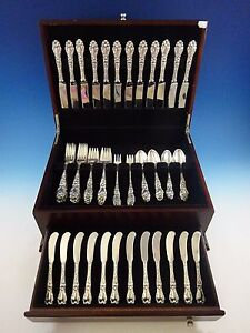 Lily By Frank Whiting Sterling Silver Flatware Service For 12 Set 72 Pieces