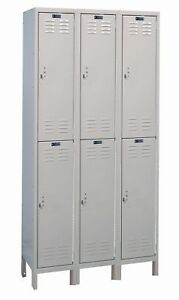 Hallowell Valuemax 2 Tier 3 Wide School Locker