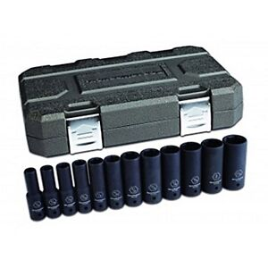 Gearwrench 12 Pc 1 2 Drive 6 Point Sae Deep Impact Socket Set 84942n