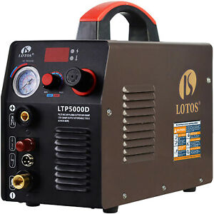 Lotos Dual Voltage 50 Amp Plasma Cutter With Pilot Arc 110v 220v Ltp5000d