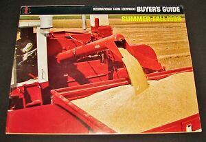 Ih International Farm Equipment Summer Fall 1968 Buyers Guide