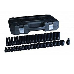 Gearwrench 39 Pc 1 2 Drive 6 Point Metricstandard deep Impact Socket Set 84948n