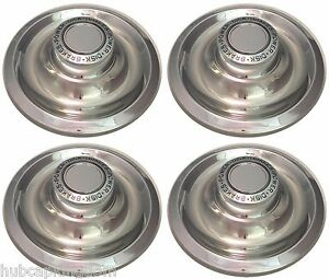 Chevrolet Corvette Camaro Chevelle Rally Wheel Power Disk Brakes Center Cap Set