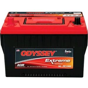 Odyssey 34 Pc1500t Auto Ltv Battery W Tin Plated Brass Sae Top Automotive Posts