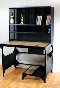 Industrial Post Office Desk Drafting Antique Replica Furniture Factory Style
