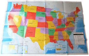 Poster Size Wall Map Of The United States Of America 40 X 28 Teaching Tree Bfr