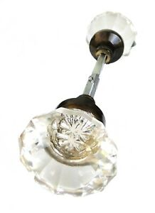 Clear Glass Door Knobs With Bronze Finish Vintage Style New Replica Big