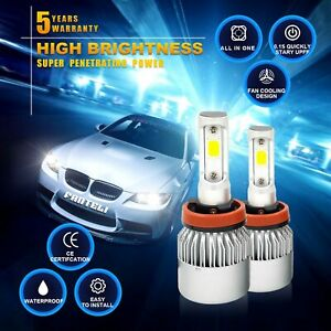 H11 120w 12000lm 4 Sided Led Headlight Kit Low Beam Bulbs 6000k White High Power