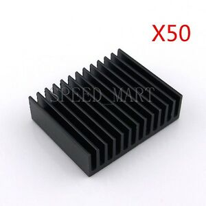 50pcs Aluminum Cooling Fin Heat Sink For Computer Electronic Chip Ic 40 32 11mm