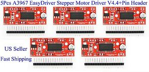 5pcs A3967 Easydriver Stepper Motor Driver V4 4 pin Header For Arduino Us New