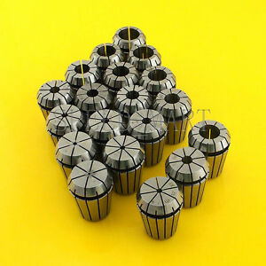 19pcs Er25 Spring Collet Chuck Tool Set Cnc 1mm 16mm 1 8 1 4 1 2
