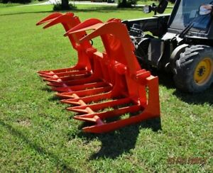 Bobcat Skid Steer Attachment 72 Heavy Duty Root Grapple Bucket Ship 199