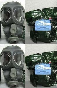 2x Scott M95 Respirator Gas Mask Swat Military Police Prepper New Filter