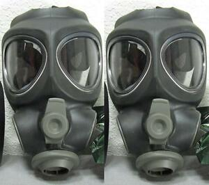 2x Scott M95 Respirator Gas Mask Swat Military Police Prepper New no filter