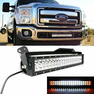 Strobe Function Lower Grill Led Ligth Bar W Bracket Wire For 11 16 Ford F250